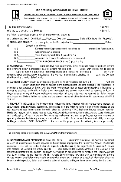 Share Form::sales contract-1051
