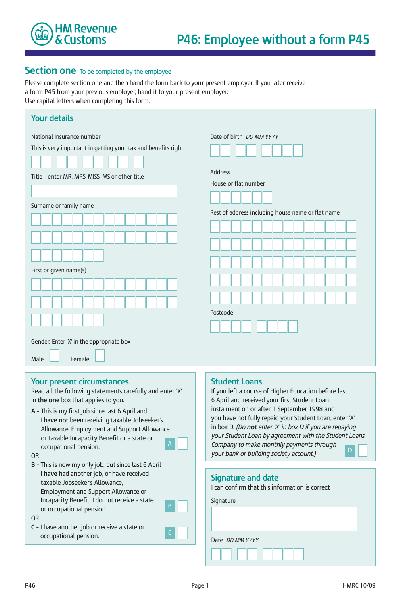 Share form::hm revenue & customs p46-618.