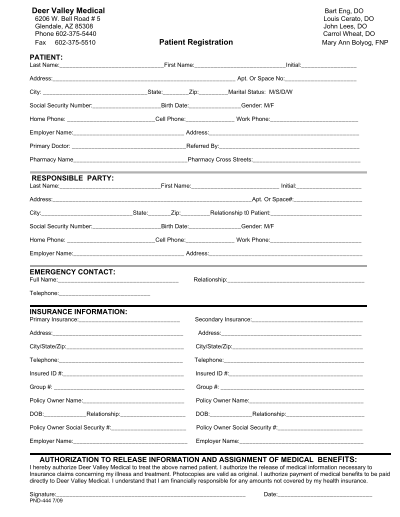 new patient registration form - offplay.khafre.us