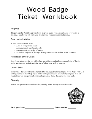 Share Form::Wood Badge Ticket-2100
