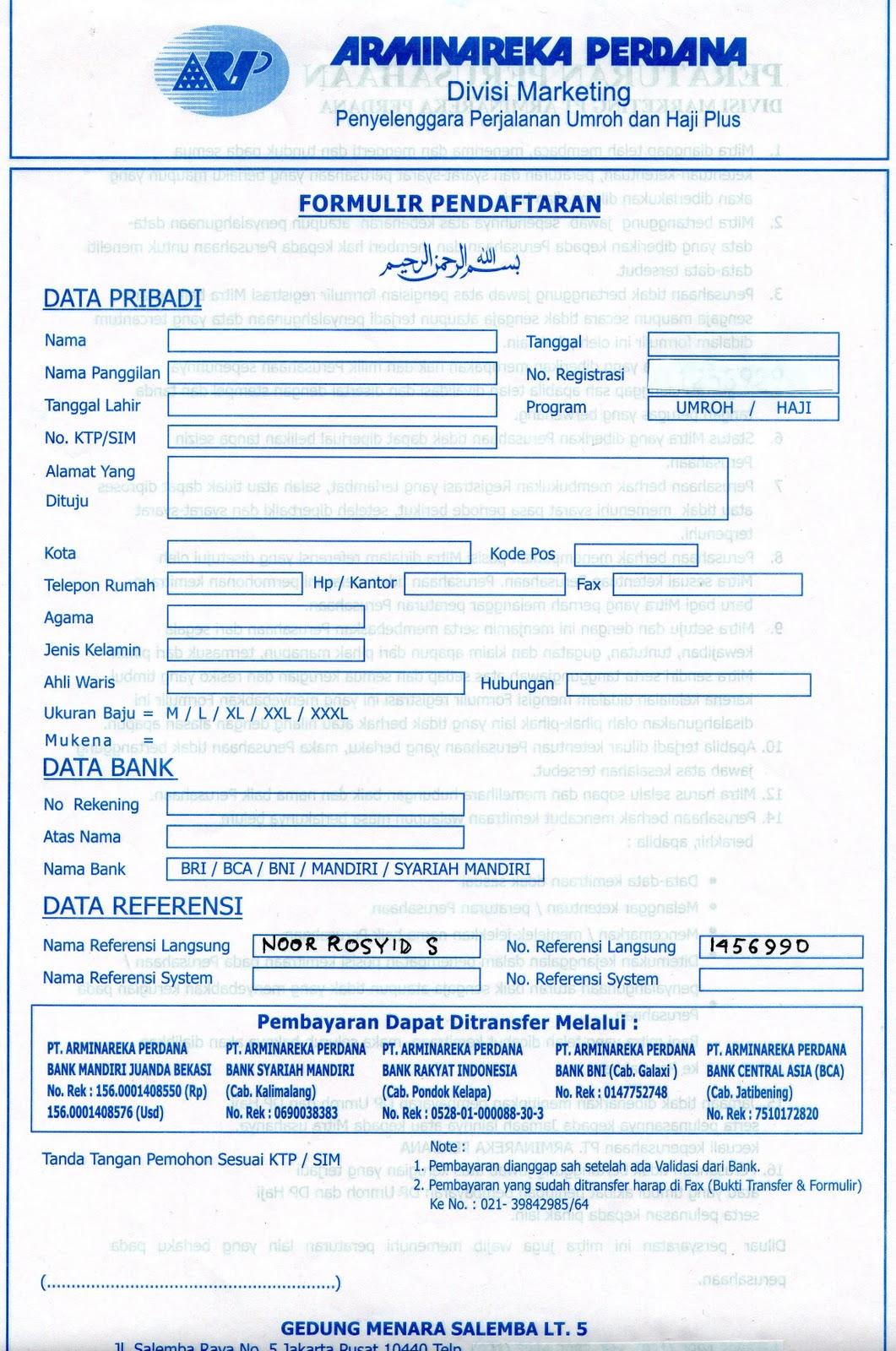 Share Form Formulir Pendaftaran 1792
