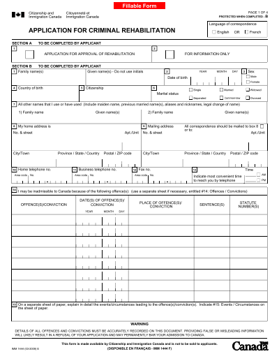 Fill Any PDF Free Forms for canadian : Page 1