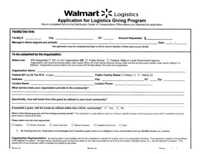 Fill Any PDF Free Forms for walmart : Page 1