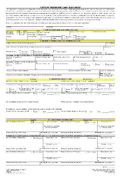 Fill Any PDF Free Forms for loan : Page 1