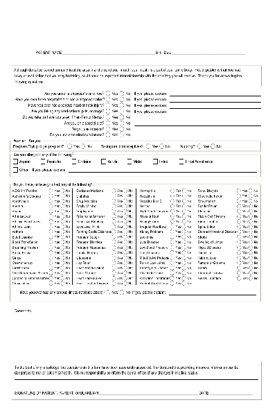 Fill Any PDF Free Forms for medical : Page 1