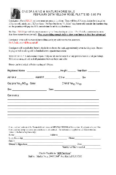 Fill Any Pdf Free Forms For Consignment Page 1