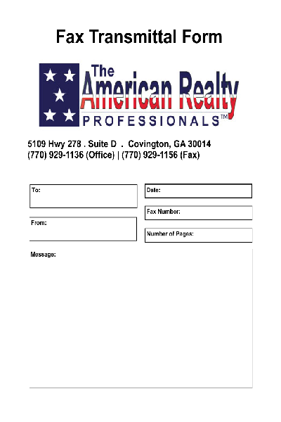 fill any pdf free forms for fax page 1