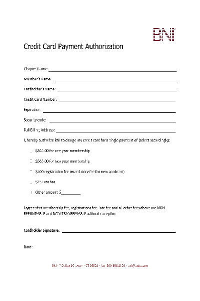share form  bni credit card payment authorization form