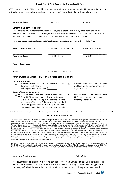 loan canadian student application form